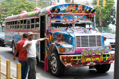 """A """"chicken bus"""" for those unfamiliar with the concept"""
