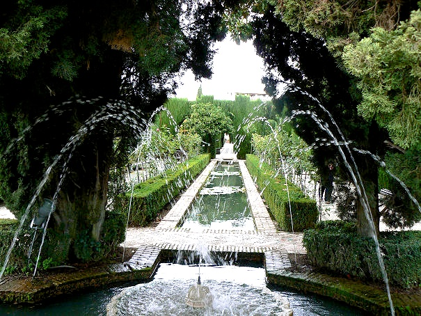 Fondales entre trois volcans for Generalife gardens