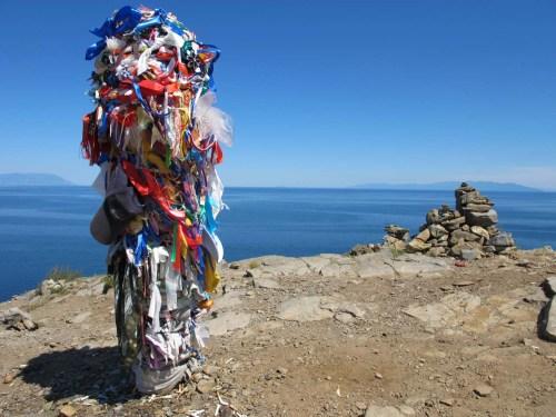 Prayer flags on Cape Khoboy