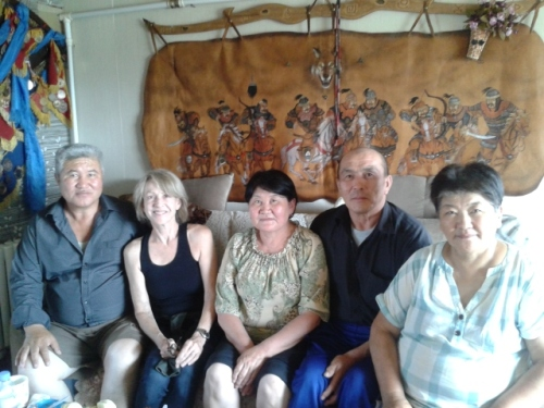 With Enhhtor, and my new Mongolian family